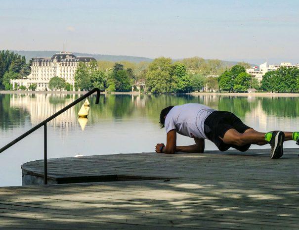 Sport au lac d'Annecy